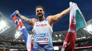 Aled Davies throws world record to win F42 shot put gold at World Para-athletics championships