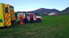 Hikers airlifted to hospital after falling in Mournes