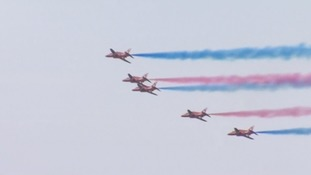 The Red Arrows' final display.