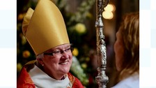 Female bishop enthroned in cathedral ceremony