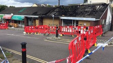 A 'major fire' has destroyed a row of shops in Newton Abbot, Devon.