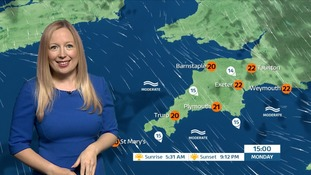 A dry and bright start to the week