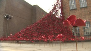 The Weeping Window was installed at The Silk Mill in Derby on June 9.