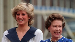 Diana, Princess of Wales and the Queen in August 1997.
