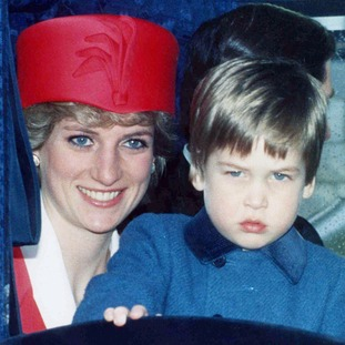 Diana, Princess of Wales and Prince William in 1986.