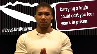 Anthony Joshua backs anti-knife crime campaign