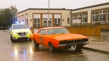 Bedfordshire Police were happy to play along with this photo opportunity when they came across this General Lee replica.