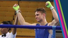 Tyler Jolly won gold in the men's 64kg boxing category