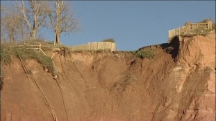 Sidmouth cliff erosion