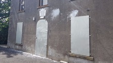 The hall near Cloughmills was hit with two paint bombs, police said.
