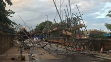 Investigation launched after scaffolding collapses in Kent street