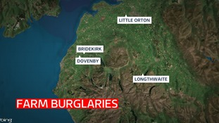 Cumbria Police is appealing for witnesses following a spate of burglaries at farms in West Cumbria.