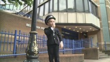 Long arm of the law? Charlie shows police officers ARE getting younger