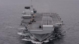 HMS Queen Elizabeth is a 65,000-tonne vessel.