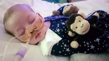 Charlie's parents spend 'last precious moments' with son