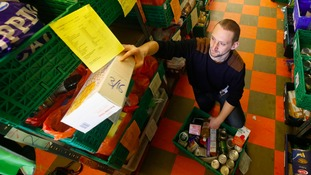 Rise in the number of primary school children using foodbanks