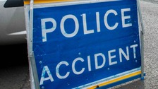 A crash has closed the A140 in Suffolk.