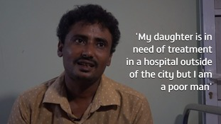 Ibrahim Hassan said his hopes of giving his daughter the medical aid she needs are impossible.
