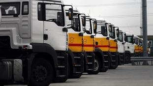 A Shell petrol tanker depot