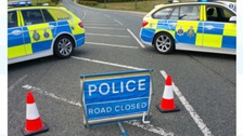 A68 road closure due to a collision