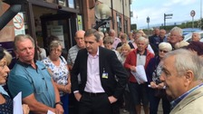 Protestors voice anger at Galloway Community Hospital meeting