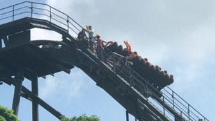Passengers escorted off Oblivion rollercoaster ride at Alton Towers