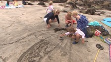 One week on: Tourists back on Coverack beach