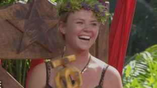 Former Eastenders actress Charlie Brooks being crowned Queen of the Jungle