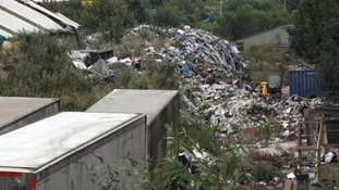 """It's a complete disgrace"": Anger over 2,000 ton mountain of waste"