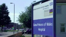 Diana Princess of Wales Hospital in Grimsby.