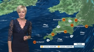 A wet start for the South West