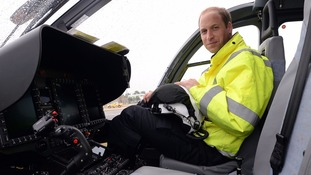 Prince William is hanging up his helicopter helmet.