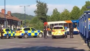 Armed police called to reports of man with weapon at Caerphilly bus station