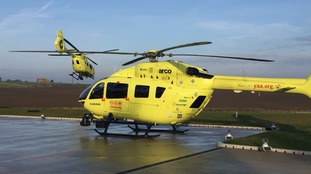 Air ambulance rescues woman thrown from 'spooked' horse in Ripon