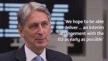 Hammond expects Autumn start to transitional Brexit talks