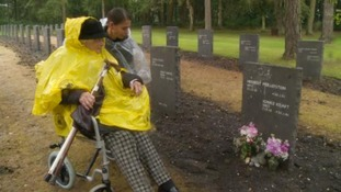 German war widow, 97, visits grave of soldier husband