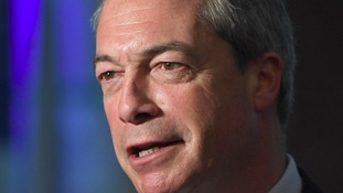 Etheridge said former leader Nigel Farage has been silent on the issue.