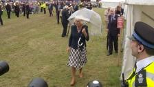 'Nice and damp' - The Duchess's verdict on flower show