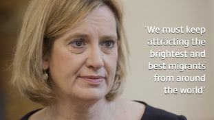 Home Secretary Amber Rudd said she wants the UK to remain a 'hub for international talent' after Brexit.