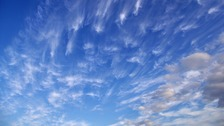 Cirrus floccus with virga