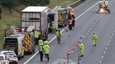 Man dies following road crash on A74 in Dumfries & Galloway