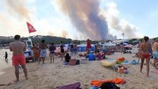 Firefighters contain huge wildfire on French Riviera