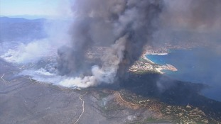 An aerial shot of one of the blazes