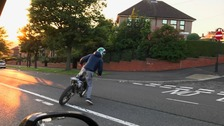 Sheffield Councillor Ben Miskell has spoken of the terrifying moment a masked biker attacked his car as he sat inside.