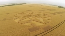 Farmers say crop circles are destroying business