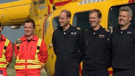Prince William starts his last shift as an air ambulance pilot