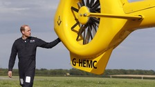 Duke of Cambridge begins final air ambulance pilot shift