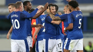 Baines strikes to give Everton a slender first leg lead over MFK Ruzomberok in Europa League qualification