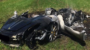 Man has 'miracle escape' after crashing £200,000 Ferrari - an hour after he bought it