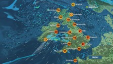 Weather: Showers ahead of heavier rain
